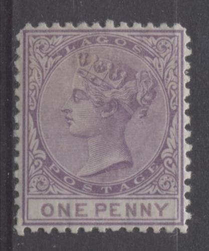 The Queen Victoria Surface Printed Issue of Lagos Perforated 12.5 Line 1874-1876