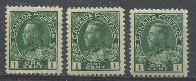 The Shades Of The 1c Green Admiral Stamp of 1911-1922