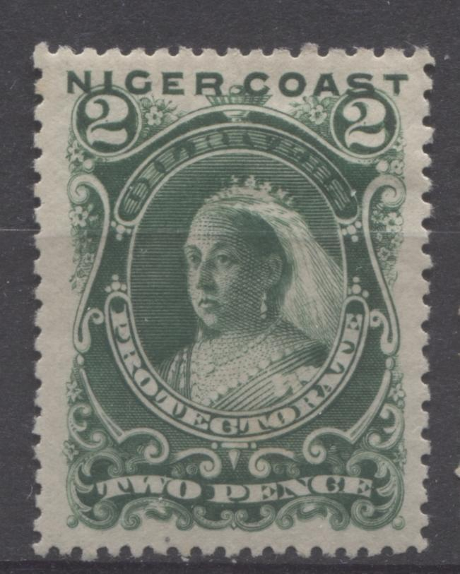 The Unwatermarked Queen Victoria First Waterlow Issue of Niger Coast Protectorate Part Five - The 2d Green