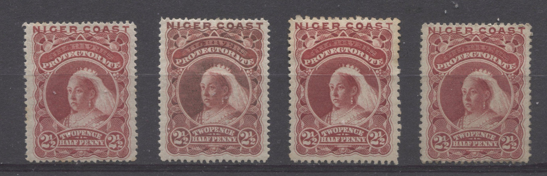 The Unwatermarked Queen Victoria First Waterlow Issue of Niger Coast Protectorate Part Six - The 2d Green and 2.5d Lake