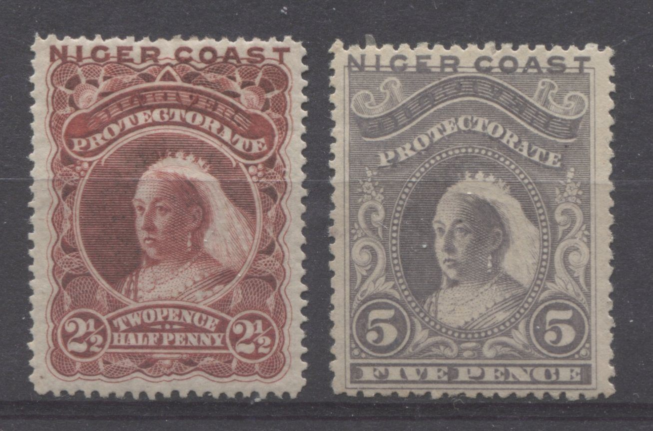 The Unwatermarked Queen Victoria Waterlow Issue of Niger Coast Protectorate Part Seven