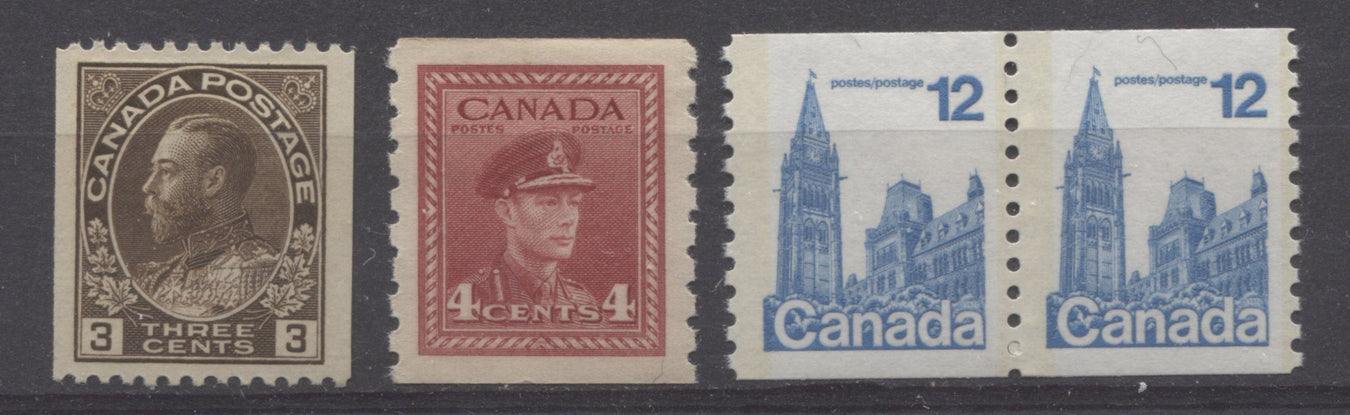 Canadian Coil Stamps