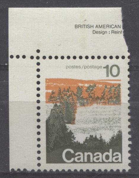 10c Type 1 Forests Stamp from the 1972-1978 Caricature Issue with Ribbed Surface