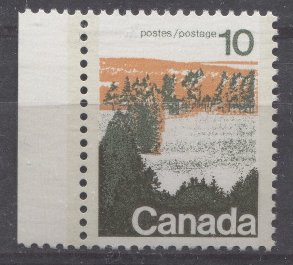 The 10c type 2 forests stamp from the 1972-1978 Caricature Issue on smooth, chalk-surfaced paper