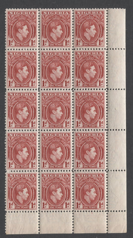 1d rose red King George VI definitive stamp of Nigeria