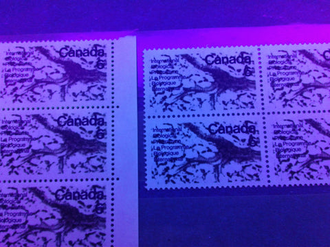 Two varieties of dull paper on the 1970 Biological Programme Issue of Canada