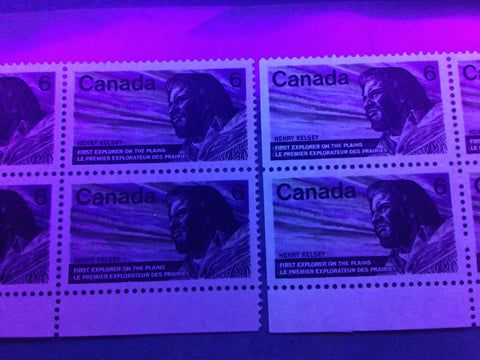 Two varieties of dull paper on the 1970 Henry Kelsey Issue of Canada