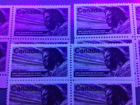 Three varieties of dull paper on the 1970 Henry Kelsey Issue of Canada