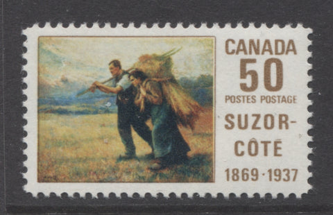 50c suzor cote issue of Canada from 1869
