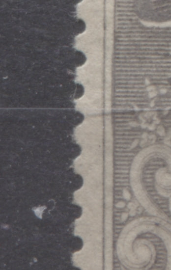 Doubling of left frame on 5d grey Queen Victoria stamp from the 1894 Waterlow Issue of Niger Coast Protectorate