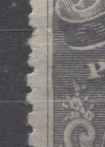 Doubling of left frame on 5d slate Queen Victoria from the 1894 Waterlow Issue of Niger Coast Protectorate