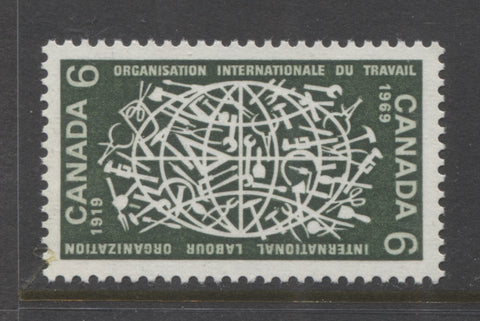 6c International Labour Organization issue of Canada of 1969