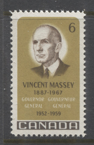 6c Vincent Massey Issue of Canada from 1969