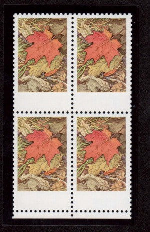 The missing grey on the 1971 7c Maple Leaf in Autumn stamp of Canada