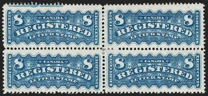 8c Bright Blue registration stamp of Canada