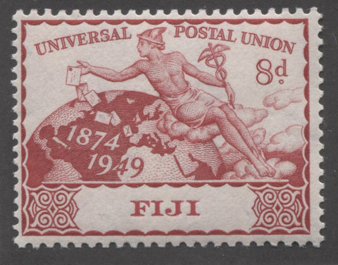Carmine red 3rd design 1949 UPU issue