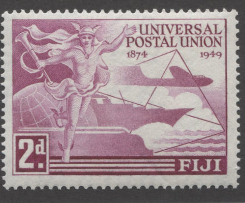 Deep magenta 1st design 1949 UPU issue