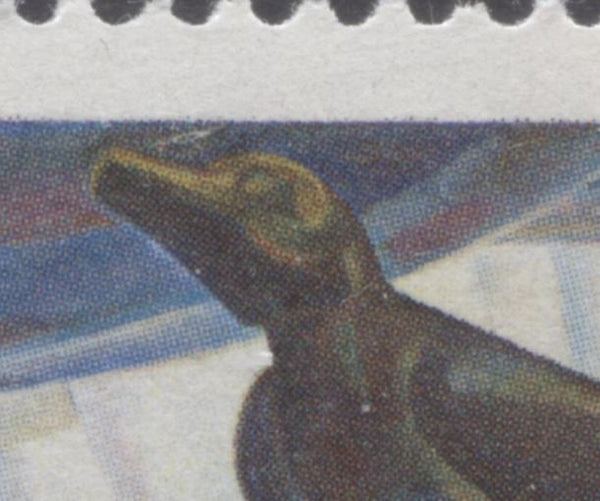 The normal throat on the 1971 Emily Carr stamp