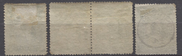 horizontal wove paper with coarse mesh from the Second Waterlow Issue of Niger Coast Protectorate