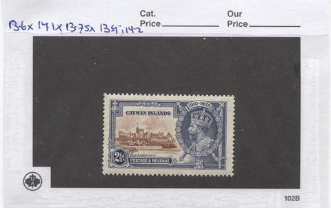 2.5d 1935 Silver Jubilee stamp of the Cayman Islands
