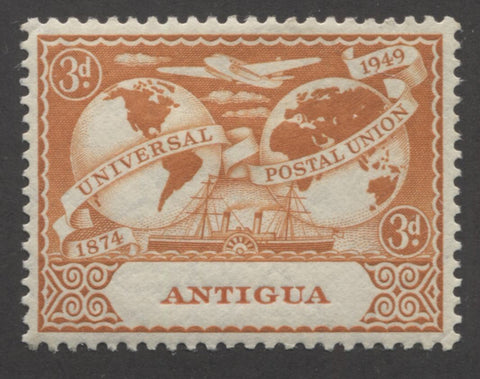 Orange 2nd design 1949 UPU issue