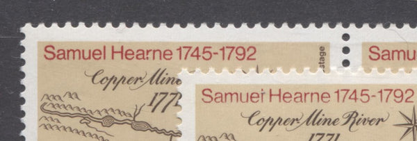 Two shades on the 1971 Samuel Hearne Stamp of Canada