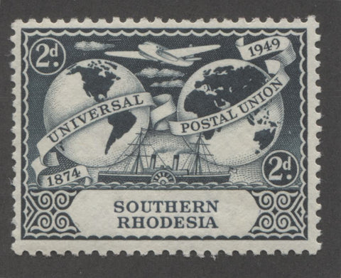 Slate green 2nd design 1949 UPU Issue