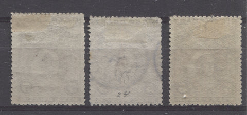 Thin, hard horizontal wove paper from the 1894 Waterlow Issue of Niger Coast Protectorate