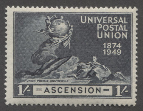 Blue black 4th design 1949 UPU issue