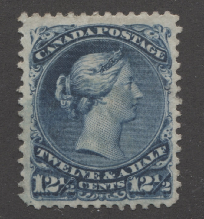 The 12.5c blue Large Queen of Canada from 1868