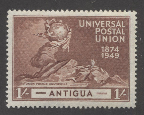 Red-brown 4th design 1949 UPU issue