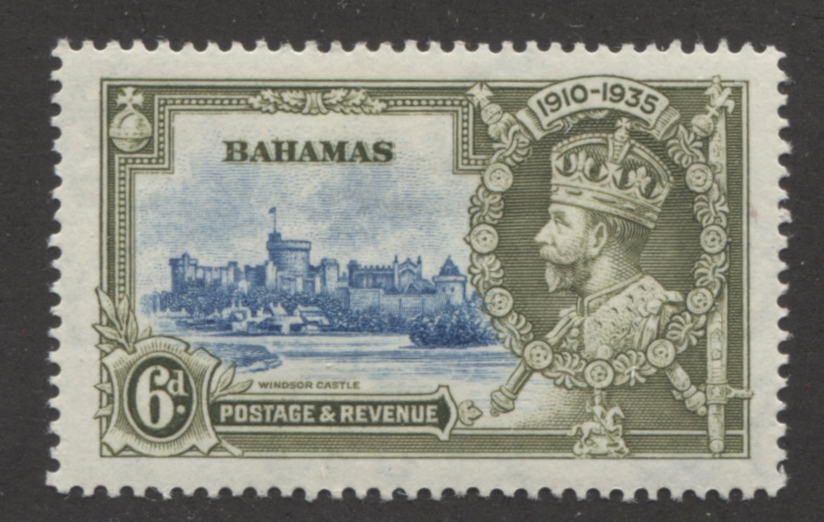 The 6d 1935 Silver Jubilee Stamp of the Bahamas