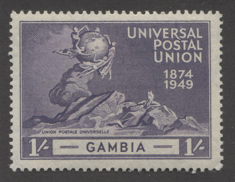 Slate violet 4th design 1949 UPU issue