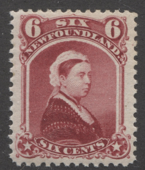The 6c lake Queen Victoria Issue of Newfoundland