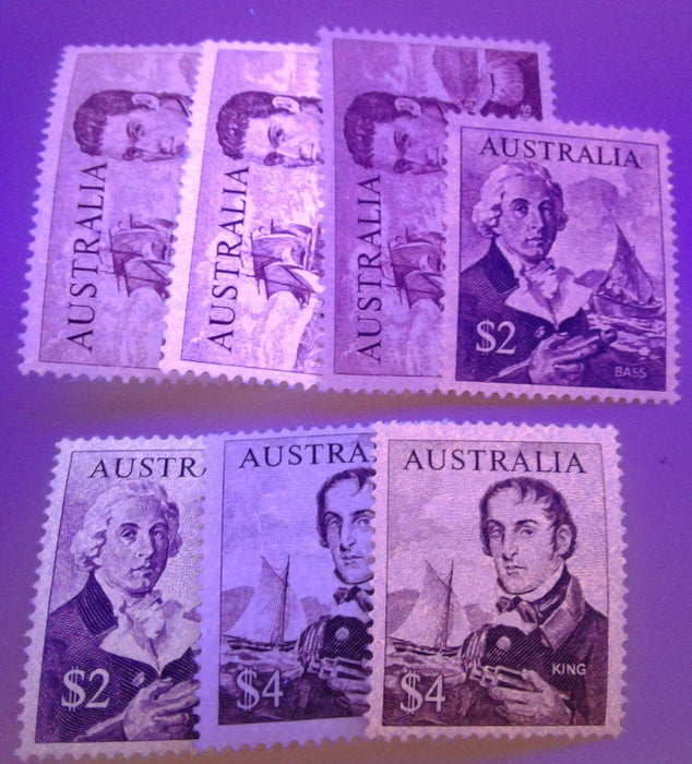 Australia #415-417 (SG#401-403) $1 to $4 Navigators, 1966-1973 Decimal Definitive Issue, A Specialized Lot of Fine NH and VFNH Stamps