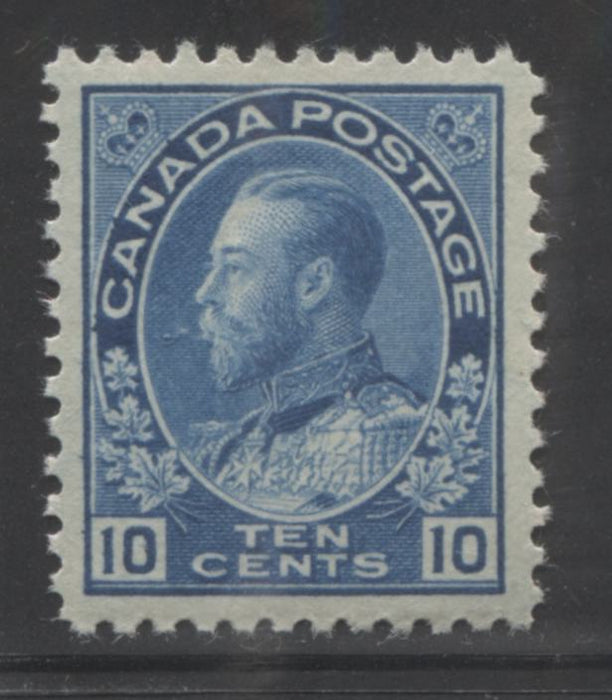 Canada #117ii 10c Deep New Blue, King George V 1911-1928 Admiral Issue Very Fine Mint LH Example of the Wet Printing