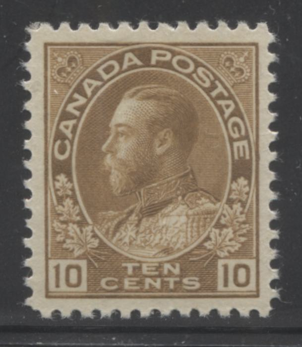 Canada #118 10c Bistre Brown King George V 1911-1928 Admiral Issue Very Fine Mint OG Example