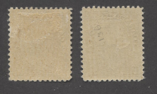Canada #118 10c Bistre Brown, King George V 1911-1928 Admiral Issue Very Fine Mint OG Examples, Each a Slightly Different Shade Variant