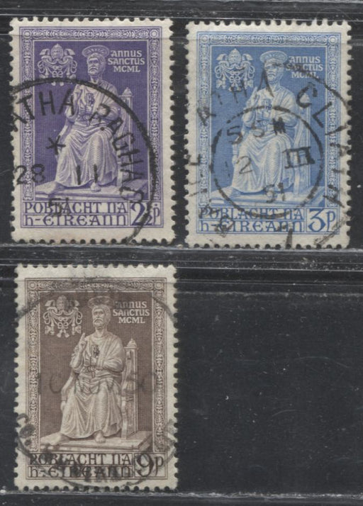 Ireland #149-151 1950 Holy Year Issue, a F/VF CDS Used Set