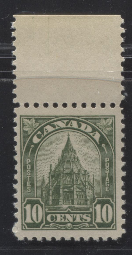 Canada #173 (SG#299) 10c Greyish Olive Green Parliamentary Library 1930-35 Arch Issue Deep Cream Gum, a VFNH Example