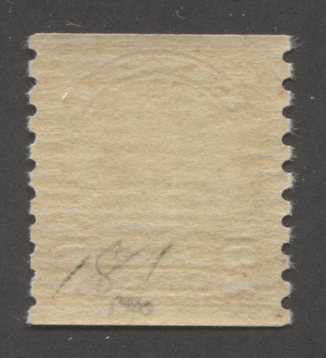 Canada #181i 2c Bright Scarlet 1930-32 Arch Issue Coil , A Fine Mint OG Example of the Cockeyed King Variety