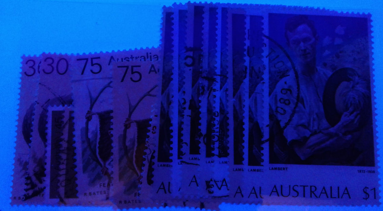 Australia #554/579 1973-1981 Definitive Issue, A Specialized Fine and VF Used Lot of 65 Stamps