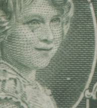 "Canada #211i 1c Green Princess Elizabeth, 1935 Silver Jubilee Issue, A Fine Disturbed OG Block of 4 Showing the ""Weeping Princess"" Variety on the Lower Left Stamp"