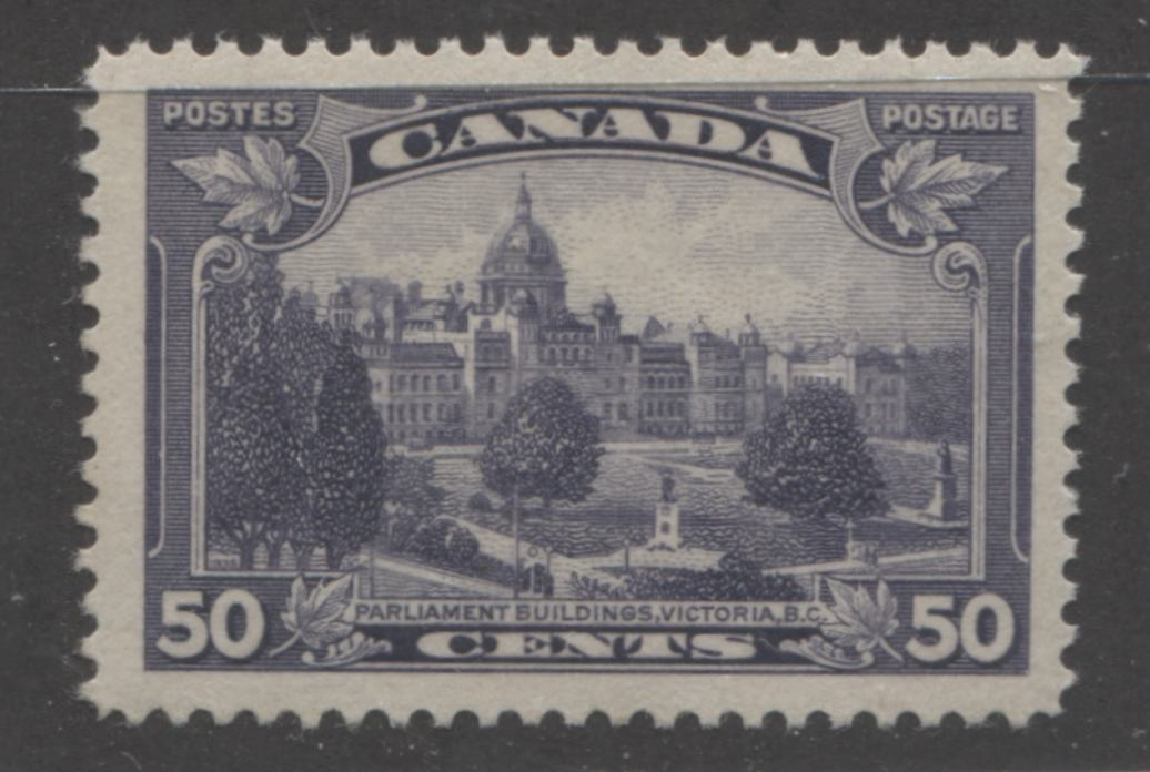 Canada #226i 13c Dull Blackish Lilac Parliament Buildings in Victoria, 1935-1937 Dated Die Issue, A VF Unused Example of the Major Re-Entry
