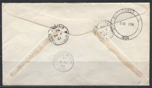 1958 Domestic Registered Cover From Montreal to White Rock, BC, Franked With 1958 Commemoratives