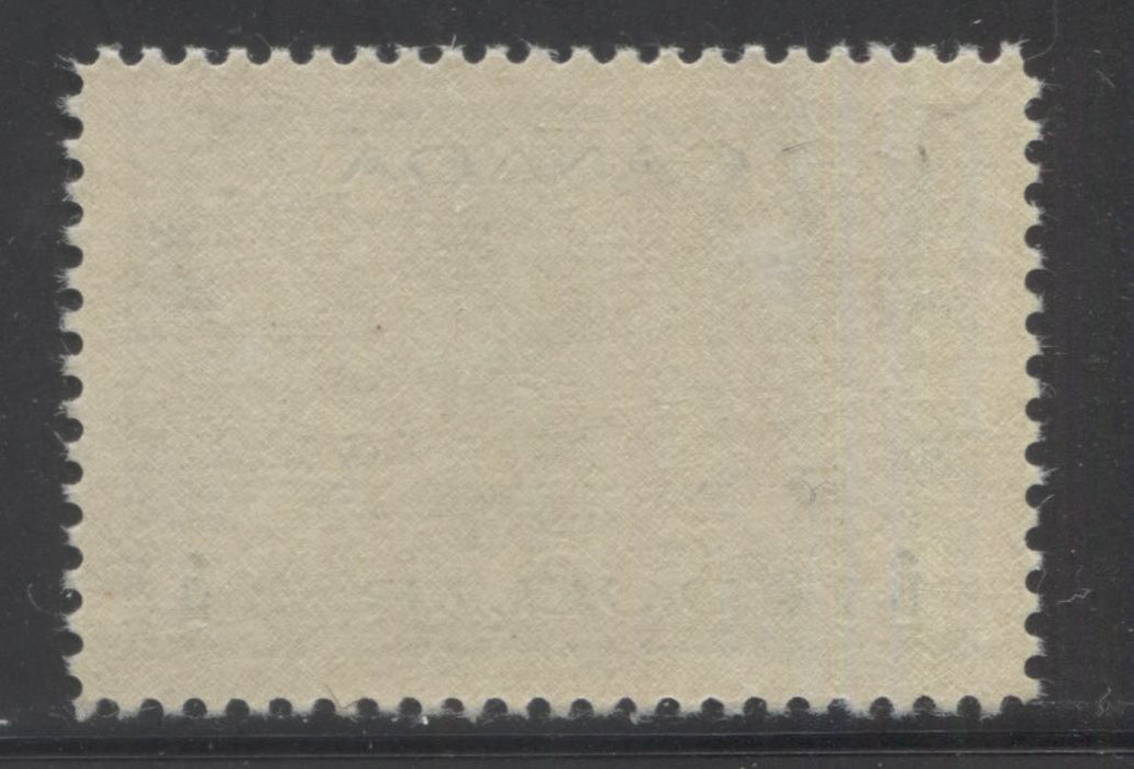 "Canada #262 $1 Deep Prussian Blue Hossack Destroyer, 1942-1949 War Effort Issue, A Superb Mint NH Example of a 1942 Printing on Soft Vertical Wove Paper, Showing a Line From the Right ""1"""