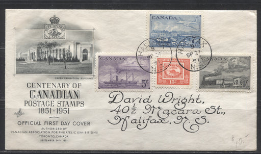 1951 CAPEX Issue - A Beautifully Addressed Artcraft Combination FDC