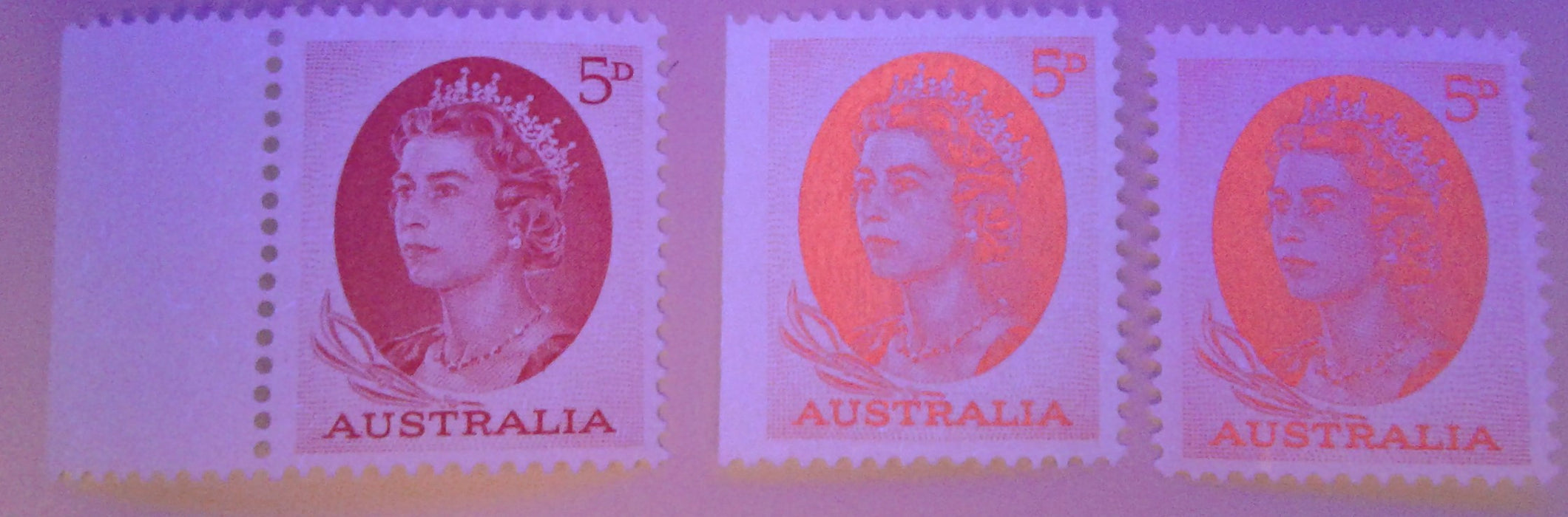 Australia #365/376 (SG#354-357) 5d Green - 7/6d Olive Green 1963-1966 Definitive Issue, A Specialized Lot of 10 VF Used Stamps