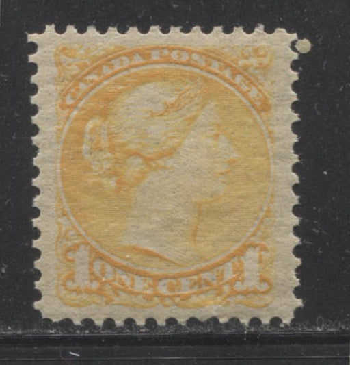 Canada #35 (SG#75) 1c Deep Bright Yellow Small Queen A Very Fine NH Example of the Second Ottawa Printing, Perf. 12.1 x 12.25