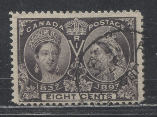 Canada #56 8c Blackish Violet Queen Victoria, 1897 Diamond Jubilee Issue, a Fine CDS Used Example